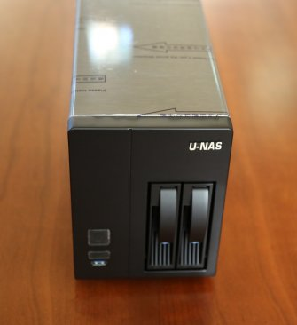 U-NAS NSC-201 2-Bay NAS Server Chassis with Power Supply